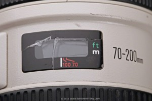 EF 70-200 with broken distance scale window