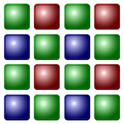 4x4 Bayer pattern