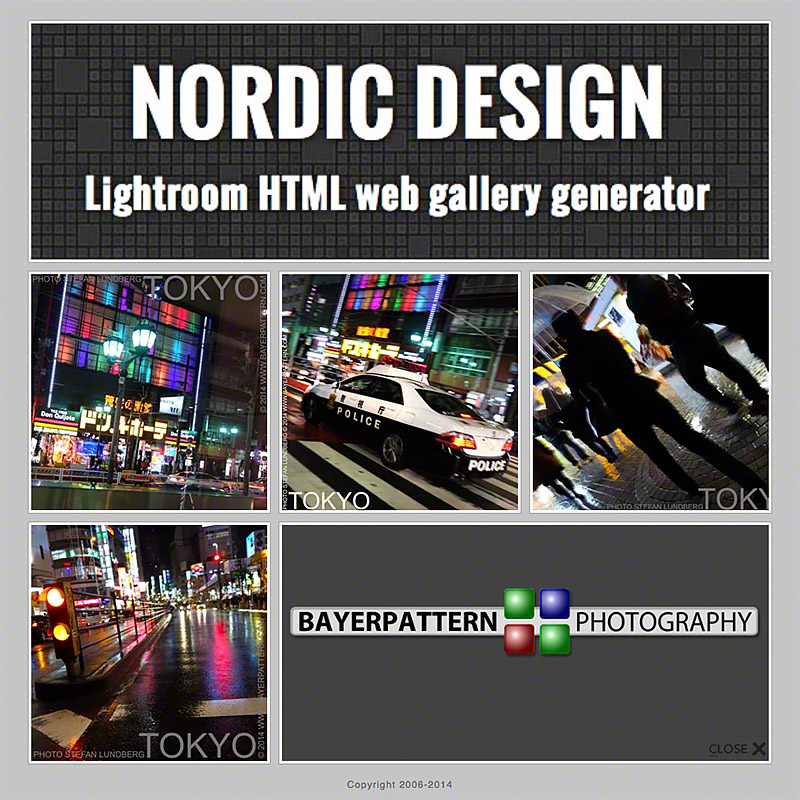 Nordic design Lightroom HTML web gallery generator by www.bayerpattern.com