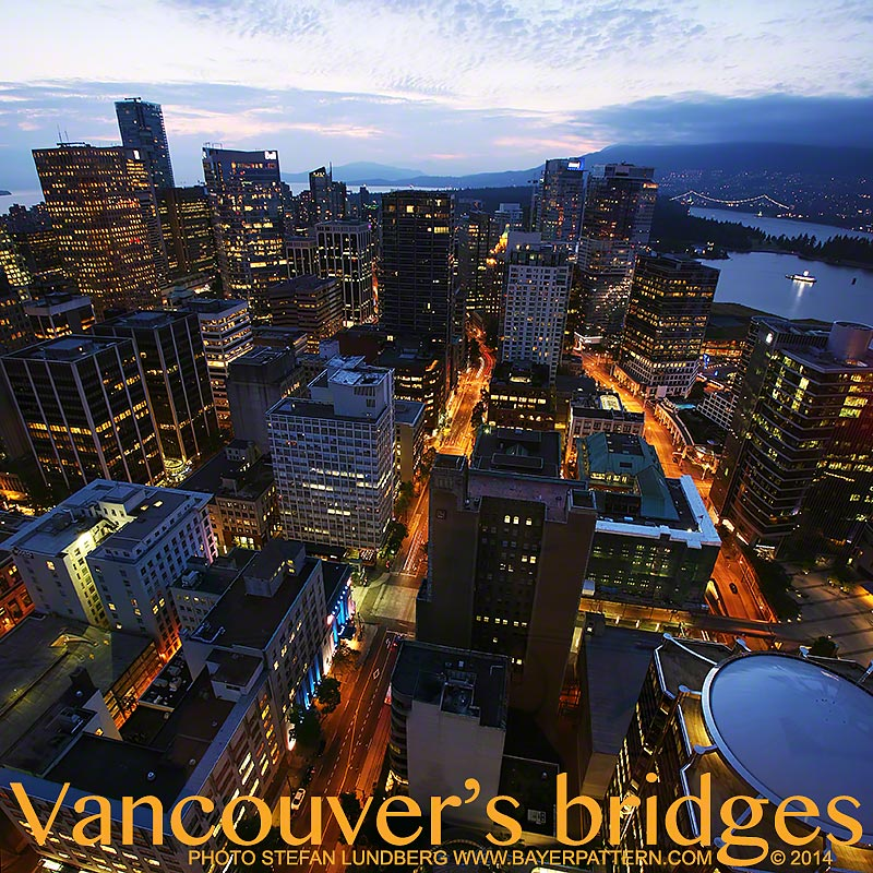 Downtown Vancouver with Lion Gate Bridge in the background